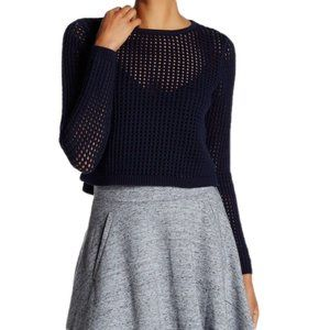 Rebecca Taylor Mesh Knit Pullover Sweater XS